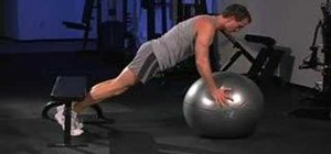 Do stability ball push ups