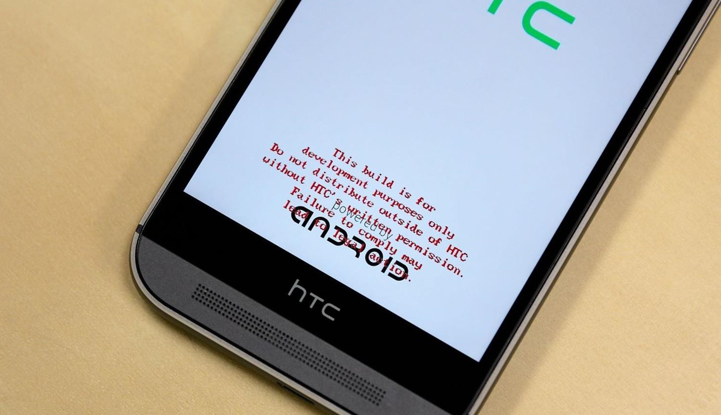 """How to Get Rid of the Annoying Red """"Development Build"""" Text on Your HTC One M8's Bootsplash"""