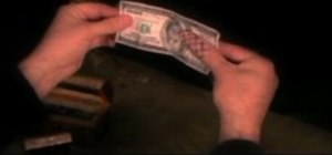 Perform the underground dollar bill switch magic trick