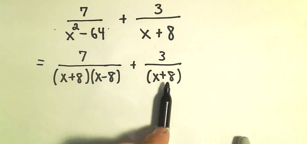 How To Add And Subtract Rational Expressions In Algebra « Math ::  WonderHowTo