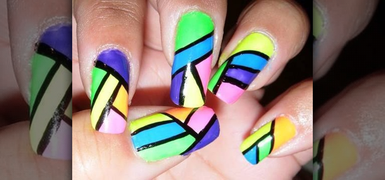 How to Paint a neon nail polish design « Nails & Manicure :: WonderHowTo