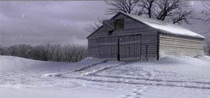 Create a realistic snow scene using Blender