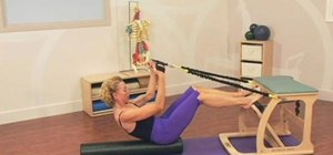 Combine roll ups & bridging on a Pilates EXO chair