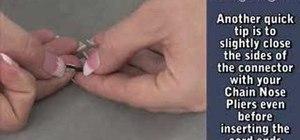 Make a Swarovski twist sew on stone bracelet