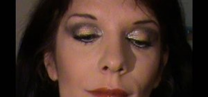 Create a gold and silver eyeshadow look