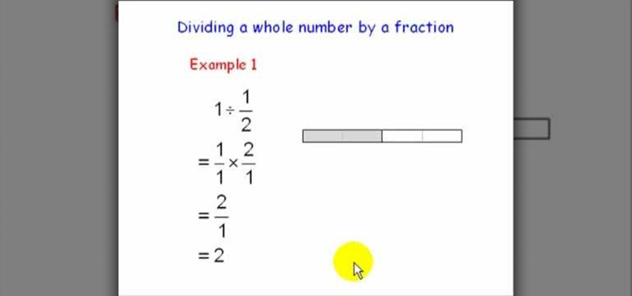 How To Divide A Whole Number By A Proper Fraction In Math Math