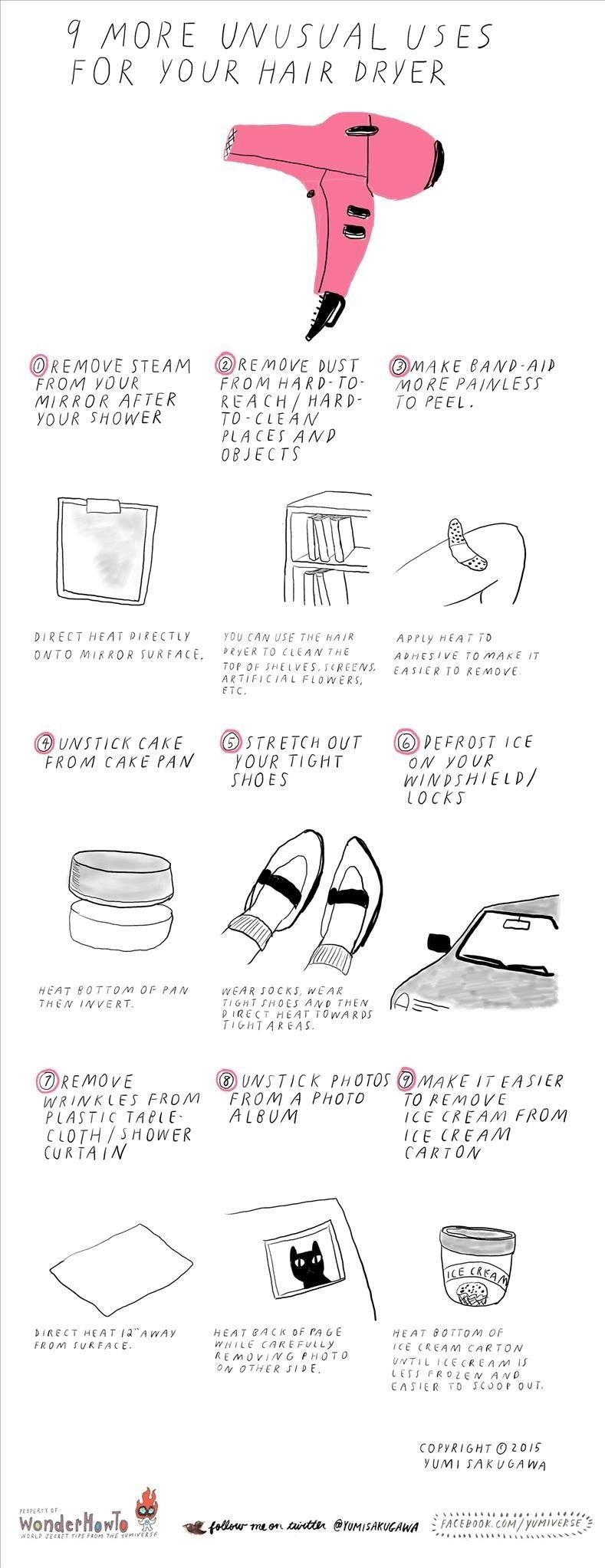 9 More Unusual Uses for Your Hair Dryer