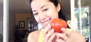 Create a DIY tomato facial scrub with Michelle Phan