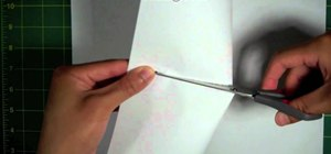 Make two different sized paper booklets without tape, glue or staples