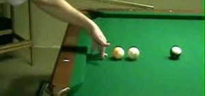 Use a pool bridge with the correct stroke
