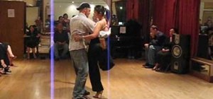 Do close to open transition in tango via back bolero