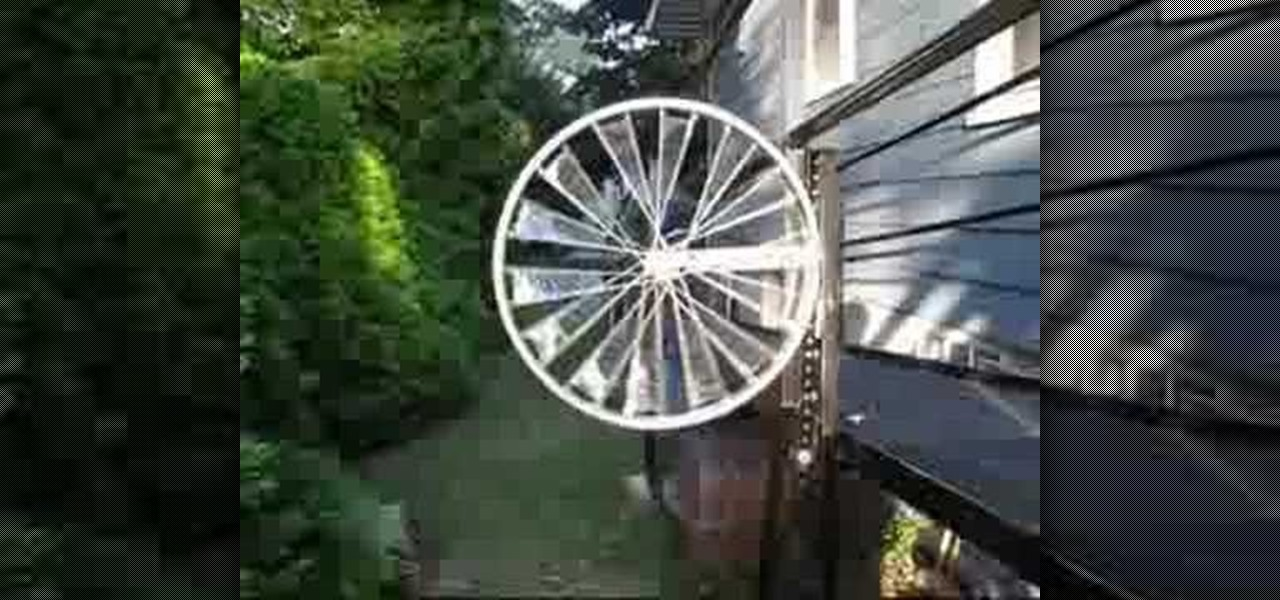 how to make a bicycle wheel windmill eco friendly