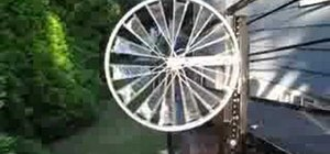 Make a bicycle wheel windmill