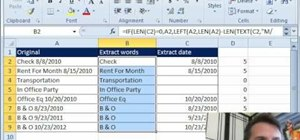 Extract dates from a cell with dates and words in Microsoft Excel