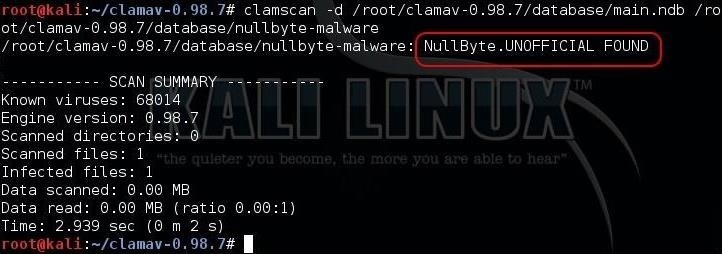 Hack Like a Pro: How Antivirus Software Works & How to Evade It, Pt. 3 (Creating a Malware Signature in ClamAV)
