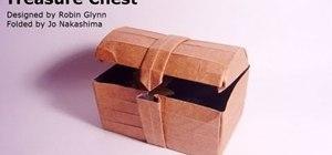 Fold a fun origami treasure chest
