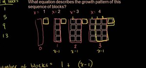 Find the equation for a growth pattern