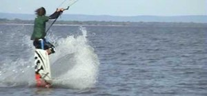 Pull a front-loop  kiteboarding trick