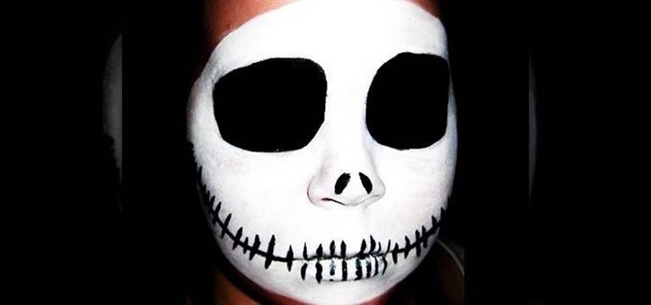 How To Apply Jack Skellington Skull Halloween Makeup