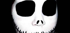 Apply Jack Skellington skull Halloween makeup