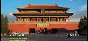 Get a tourist visa to China