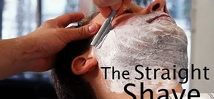 Complete an old-fashioned straight razor shave
