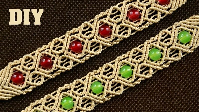 Diamond Square Macrame Bracelet