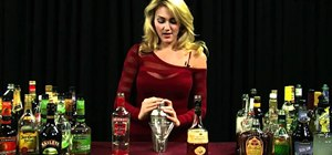 Mix a Godmother cocktail with vodka and amaretto