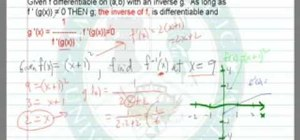 Find the derivative of an inverse function in calculus