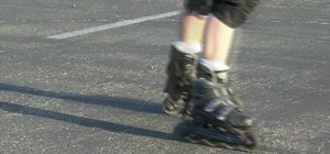 Stop on rollerblades