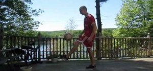 Do a flick NT HTW freestyle soccer trick