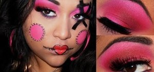 Create a hot pink and red Callowlily inspired makeup look