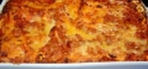 Make a lasagna with non-traditional béchamel sauce