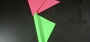 Make a paper tulip flower with your kids