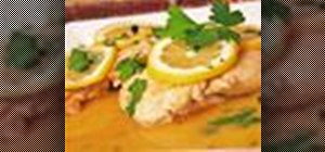 Make a classic chicken piccata