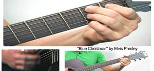 "Play Elvis Presley's ""Blue Christmas"" on guitar"