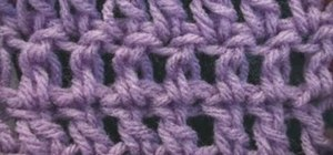 Make the basic double crochet once you've completed a chain