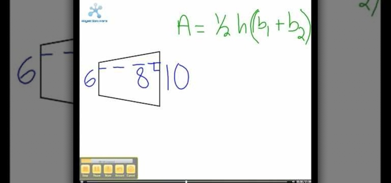 How To Calculate Area Of Trapezium F 2017