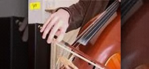 Produce a good tone on the cello