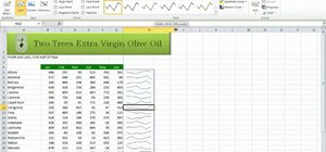 Create sparklines in Microsoft Excel 2010