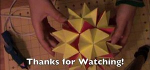 Make a transforming origami spikey ball