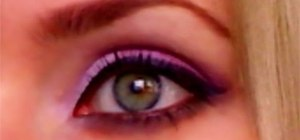 Create a purple summer makeup look with eyeshadows