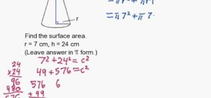 Find the surface area of a cone without a slant