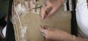 Do pearl knotting for beginner jewelry makers