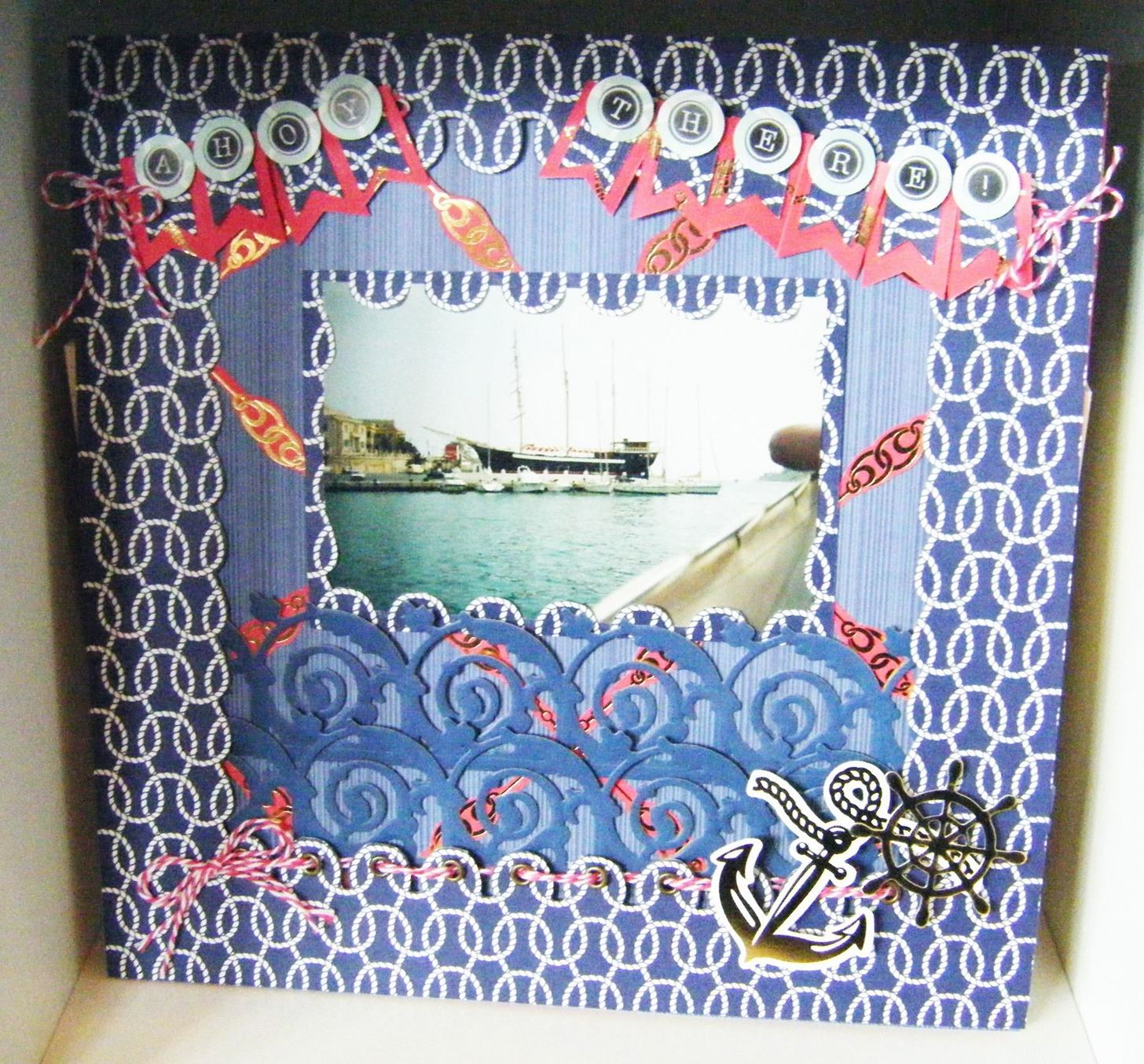 How to Make a Seafarer Scrapbooking Page