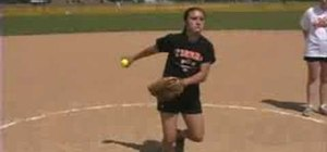 Improve softball pitching with a full rotation drill
