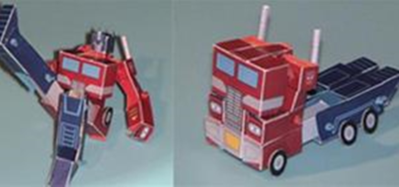Make Optimus Prime Papercraft
