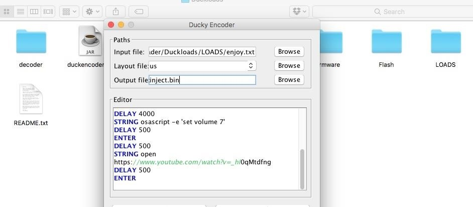 How to Load & Use Keystroke Injection Payloads on the USB Rubber Ducky