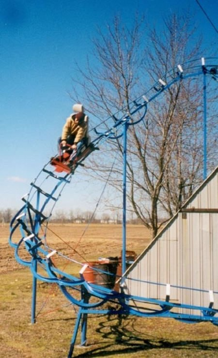 diy backyard roller coaster does 360 loop outdoor games