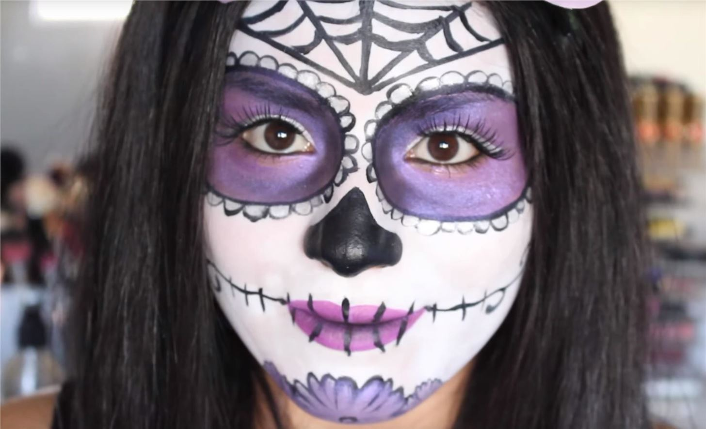 Halloween Make Up Skelet.The 15 Best Sugar Skull Makeup Looks For Halloween